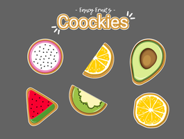 collection de biscuits fantaisie de fruits