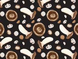mushroom seamless pattern vector element background