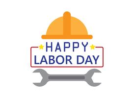 Happy Labor Day holiday banner template background
