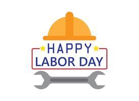 Gelukkige dag van de arbeid vakantie banner sjabloon achtergrond