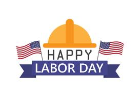 Happy Labor Day holiday banner template background vector