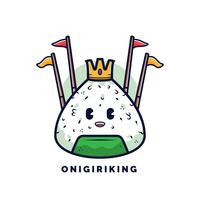 onigiri vector logo