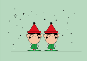 Free christmas elves vector