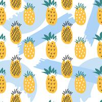 Pineapple Summer Vector Pattern