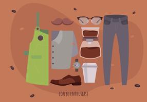 Ilustración de vector de barista coffee starter pack
