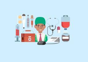 Illustration vectorielle de outils de médecin Starter Pack