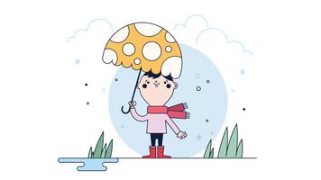 Erster Schneefall-Vektor