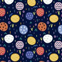 Colorful pattern with abstract shapes vector