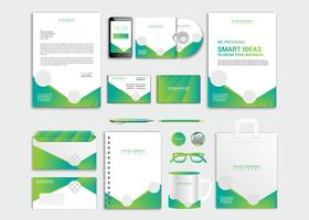 Professional business stationery set
