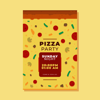Pizza Folleto Vector