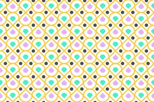 Padrão sem emenda de colorido geométrico e círculo moderno em fundo branco - ilustração vetorial