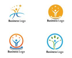 Human character logo sign illustration vector design