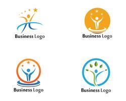 Design de vetor de ilustração de sinal de logotipo de caráter humano