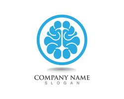 Brain Logo Template and symbols icons app