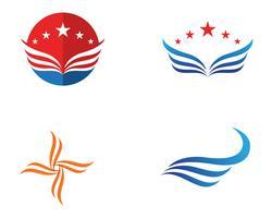vinge logosymbol för en professionell designer
