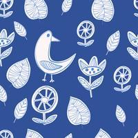 Enkel skandinavisk mönster primitiv naiv stil minimalistisk vektor