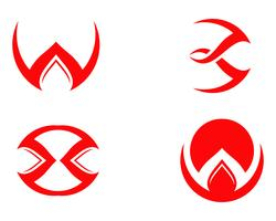 Magic trident logo and symbols template vector,