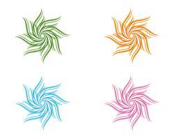 Insieme di vettore dei reticoli floreali su una priorità bassa bianca