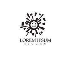 Plantilla de iconos de logo de edificios de bienes raíces y hogar