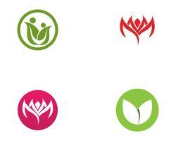 Family Flower Logo och symbolerTemplate icons app