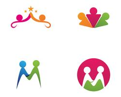 Sinal de logotipo de caráter humano, logotipo de cuidados de saúde. Sinal do logotipo da natureza. Sinal verde do logotipo da vida,