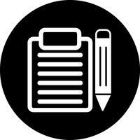 Vektor-Clip-Board und Bleistift-Symbol