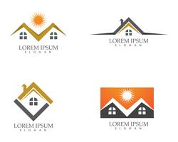 Property and Construction Logo design for business corporate sign vector