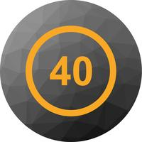 Vector Speed Limit 40 Icon