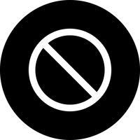 Vektor förbjuden ikon