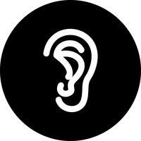 Vector icono de oreja