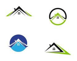 Propiedad y construcción Inicio diseño de logotipo para signo corporativo empresarial.