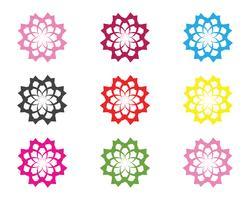 Muestra de la flor para el bienestar, spa y yoga. Ilustración vectorial