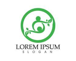 mensen blad groen natuur gezondheid logo en symbolen