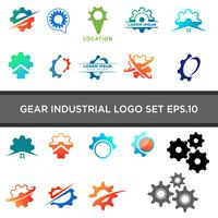 gear logo design industrial icon element illustration