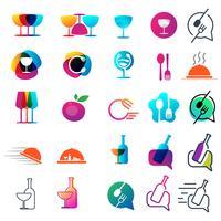 elemento de comida chef logotipo colección diseño vector icono