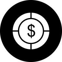 Vektor-Dollar-Ziel-Symbol
