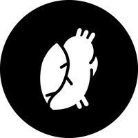 Vector icono del corazón médico