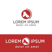 head of horse creative logo template, icon isolated element