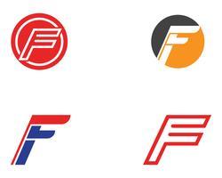 F-logotyp och symboler mall vektorikoner