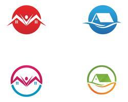 Home logo en symbolen vector