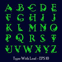 Buchstabe az Blatt Natur, eco grünes Logo Vorlage Vektor isoliert
