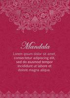 Greeting, invitation card template with abstract oriental ornament.