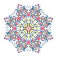 Vector Mandala ornament. Vintage decorative elements. Oriental round pattern. Islam, Arabic, Indian, turkish, pakistan, chinese, ottoman motifs.