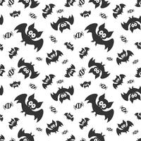 Seamless vector pattern with bats and sweats. Halloween repeating bats background for textile print, wrapping paper or scrapbooking.