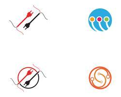 circuito tecnología ilustración vector logo