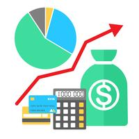Illustration vectorielle dans un style plat Finance concept en pleine croissance.