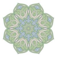 Vector Mandala. Oosters decoratief element. Islam, Arabisch, Indiaas, Turks, pakistan, Chinees, Ottomaanse motieven. Etnische ontwerpelementen. Hand getrokken mandala. Kleurrijk mandalasymbool voor yorontwerp.