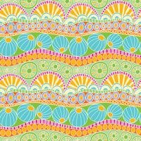 Abstract colorful doodle pattern. Hand drawn doodle seamless pattern for textile