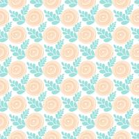Roses seamless pattern. Hand drawn roses pattern. Vintage roses background. Vect