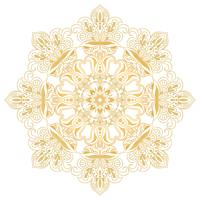 Ethnic decorative design element. Mandala symbol. Round abstract floral ornament vector